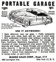 Portable Garage Ad, Cosmopolitan, March 1952, page 112.