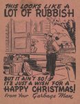 Christmas card given by garbage men from 1954.