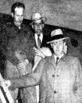 Albert L. Paglino arriving at the Lambert St Louis field for his trial.