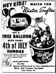 Mister Softee Ad from 1958