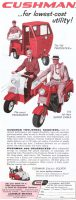 Cushman Scooters Ad, Saturday Evening Post, February 7, 1959, page 6.