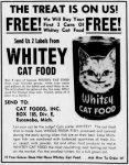 Whitey Cat Food Ad
