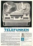 Telefunken Reel-to-Reel Tape Recorder, Audio Elite, Ad, Audio Magazine, September 1961, page 97.