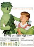 Jolly Green Giant Rag Doll Ad, Life, October 19, 1962, page 29.