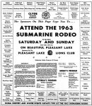 Advertisement for the 1963 Submarine Rodeo