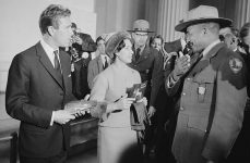 1965 Image of Princess Margaret and Lord Snowden visiting the Lincoln Memorial
