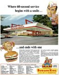 Burger King Home of the Whopper Ad, Life, June 3, 1966, page R3.