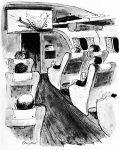 Airplane Crash Comic, Cavalier, September 1966, page 37.