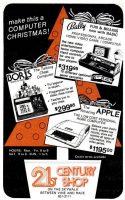 Apple Computer, 21st Century Shop, Christmas, Cincinnati Magazine, December 1978, page 12.
