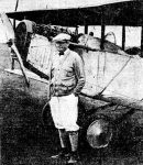 J.S. Conroy piloted the airplane for the winning team in the airplane golf match held at the Olympia Field Country Club in Chicago, Illinois.