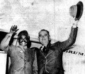 Bashir Ahmad with then Vice-President Lyndon Johnson.