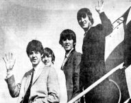 The Beatles arriving at Lunken Airport in Cincinnati, Ohio.
