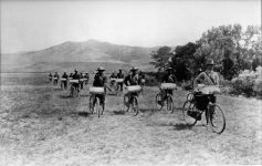 American Bicycle Corps at Fort Missoula in 1897