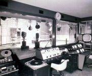 1963 photograph of the teaching television studio, Annenberg School of Communications, University of Pennsylvania.