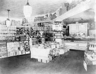 Interior of a Washington, DC grocery store in the 1920s.
