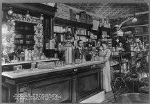 Hall's Pharmacy Fourth and Chestnut Streets., Mifflinburg, Pa.