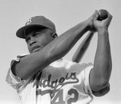 #42 Jackie Robinson in 1954