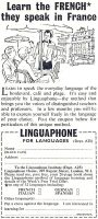 Learn to Speak French, Linguaphone, Boy's Own Paper, September 1959, page 12