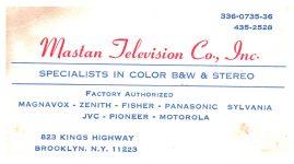 Masten Television Co. in Brooklyn, NY