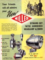 Miller Dynamo Headlamp and Horn Set, Boy's Own Paper, September 1959, page 68.