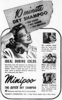 Minipoo Dry Shampoo Ad, RN Magazine, April 1948, page 16