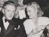 Miriam Hopkins with her ex-husband Anatole Litvak on December 25, 1939.