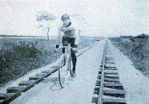 Murphy Riding Bike on Platform