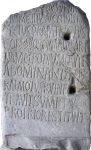 Inscription for 5th century Roman Consul Decius Marius Venantius Basilius in theColosseuminRome.