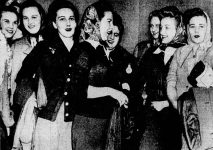 A group of the Sikorsky Sweater Girls.
