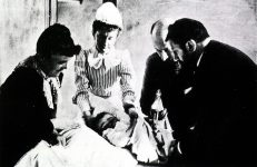 Child Receiving the Diphtheria Vaccine in 1895