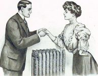 Husband and Wife Standing Over Radiator