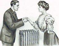 Husband and Wife Standing Over Radiator