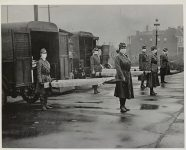 St. Louis Red Cross Motor Corps on duty Oct. 1918 Influenza epidemic.