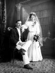 Wedding photo of an unknown couple.