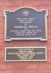 Commemorative plaque for Charles Nalle.